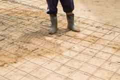 De reeks van de cementwegenbouw royalty-vrije stock afbeelding