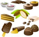 De reeks van de chocolade Royalty-vrije Stock Afbeelding