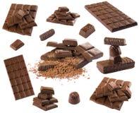 De reeks van de chocolade Stock Foto's