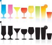 De reeks van de cocktail royalty-vrije illustratie