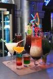 De reeks van de cocktail stock fotografie