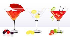 De reeks van de cocktail Royalty-vrije Stock Afbeelding