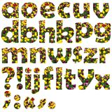 De reeks van de de bloembrief van kleine letters Stock Afbeeldingen
