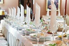 De reeks van de de cateringslijst van de close-up Royalty-vrije Stock Fotografie