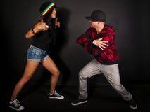 De reeks van de de hopdanser van de heup Royalty-vrije Stock Afbeeldingen