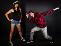 De reeks van de de hopdanser van de heup Stock Afbeelding