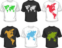 De reeks van de de t-shirtinzameling van Menâs Stock Fotografie