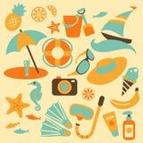 De reeks van de de zomervakantie vector illustratie