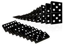 De reeks van de domino Royalty-vrije Stock Afbeelding