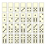 De reeks van de domino Royalty-vrije Stock Fotografie