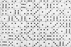 De reeks van de domino vele stukken Stock Foto's