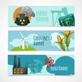 De Reeks van de energiebanner Stock Foto's