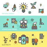 De Reeks van de energiebanner Royalty-vrije Stock Foto