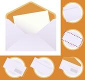 De reeks van de envelop vector illustratie