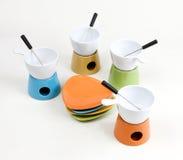 De reeks van de fondue stock afbeelding