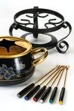 De reeks van de fondue Royalty-vrije Stock Foto's