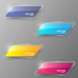 De reeks van de glasbanner Vector illustratie Stock Fotografie