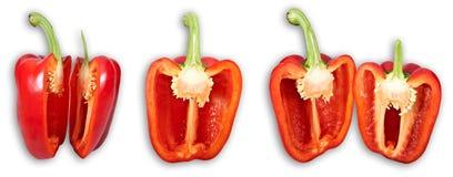 De reeks van de groene paprika Stock Foto's