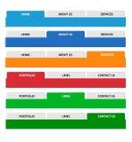 De reeks van de het menukopbal van het Web. Vector. Stock Fotografie