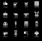 De reeks van de het pictogramreeks van toepassingen Royalty-vrije Stock Foto