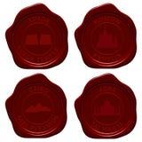 De reeks van de het zegelwaszegel van het oriëntatiepunt Stock Afbeeldingen