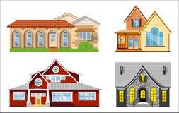 De reeks van de huisillustratie Stock Foto's