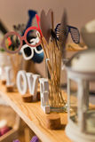 De reeks van de huwelijkspartij Stock Fotografie