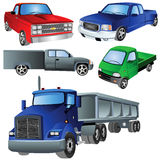De Reeks van de Ikoon van vrachtwagens stock illustratie