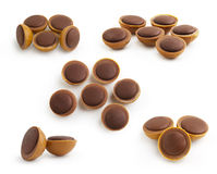 De Reeks van de Karamel van de chocolade   Royalty-vrije Stock Foto's