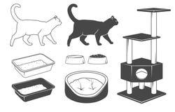 De reeks van de kat Royalty-vrije Stock Afbeelding