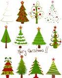De reeks van de kerstboom Royalty-vrije Stock Afbeelding