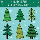 De reeks van de kerstboom Stock Foto's