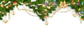 De Reeks van de Kerstmisgrens Eps 10 Stock Afbeeldingen