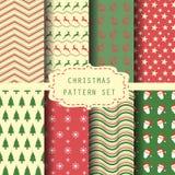 De reeks van de Kerstmisklomp, uitstekende en retro stijl stock illustratie