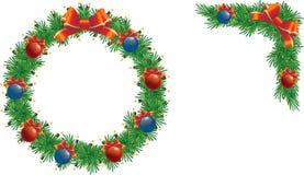 De reeks van de Kerstmiskroon Stock Foto's