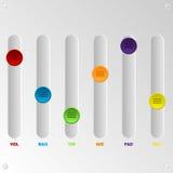 De reeks van de kleurenequaliser van 6 Royalty-vrije Stock Fotografie