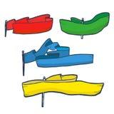 De reeks van de kleurenvlag Royalty-vrije Stock Afbeelding