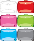 De reeks van de koffer stock illustratie
