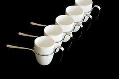 De reeks van de koffie royalty-vrije stock afbeeldingen