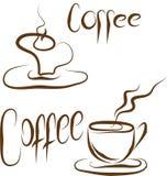De reeks van de koffie Royalty-vrije Illustratie