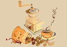 De reeks van de koffie stock illustratie