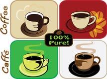 De reeks van de koffie Royalty-vrije Stock Afbeelding