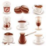 De reeks van de koffie Stock Afbeelding