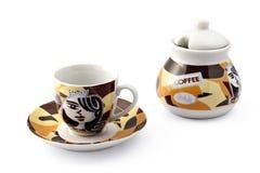 De reeks van de koffie Stock Foto