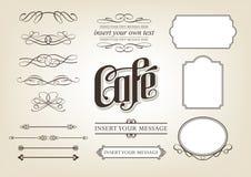 De Reeks van de Koffie van de kalligrafie royalty-vrije illustratie