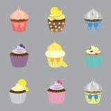 De reeks van de kopcake vector illustratie
