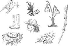 De reeks van de lente Royalty-vrije Stock Afbeeldingen