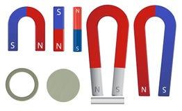 De reeks van de magneet stock illustratie