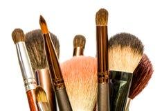De reeks van de make-upborstel Stock Afbeelding