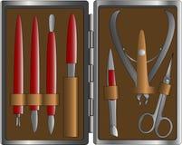 De reeks van de manicure Stock Illustratie